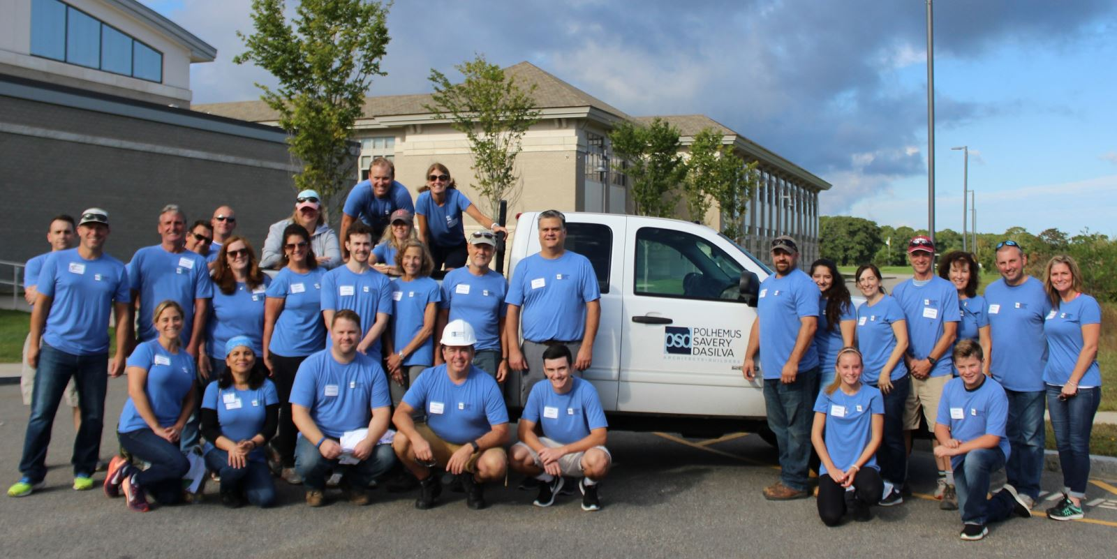Members of the PSD team who volunteered at the Housing Assistance Corp's annual Big Fix event.