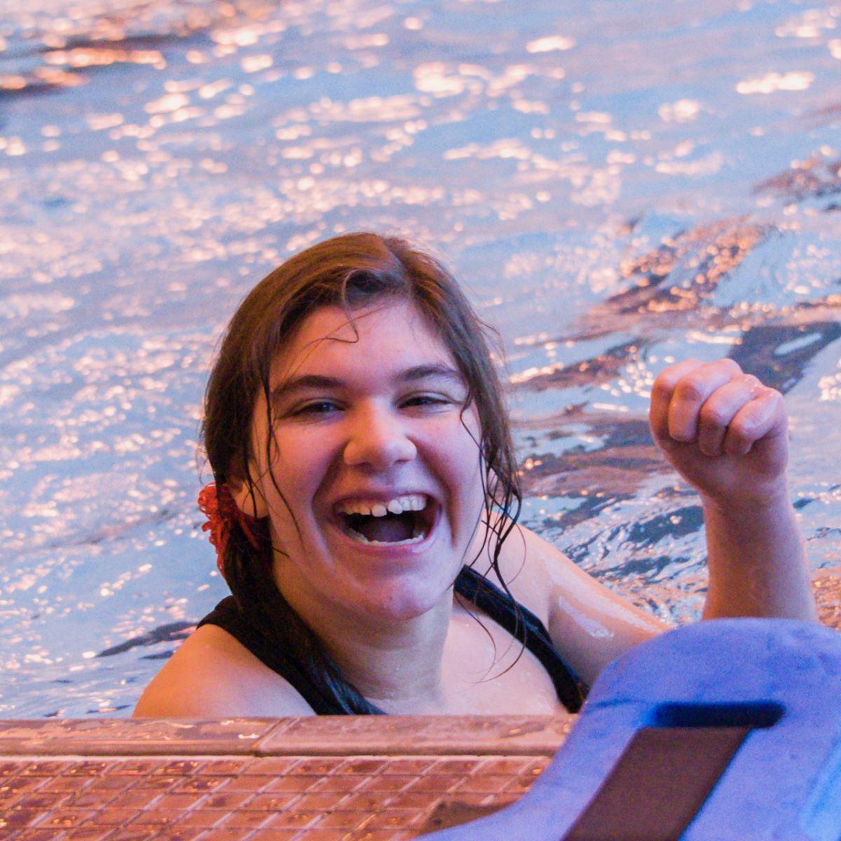 Smiling swimmer