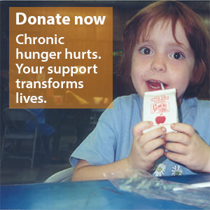 Donate now. Chronic hunger hurts. Your support transforms lives.